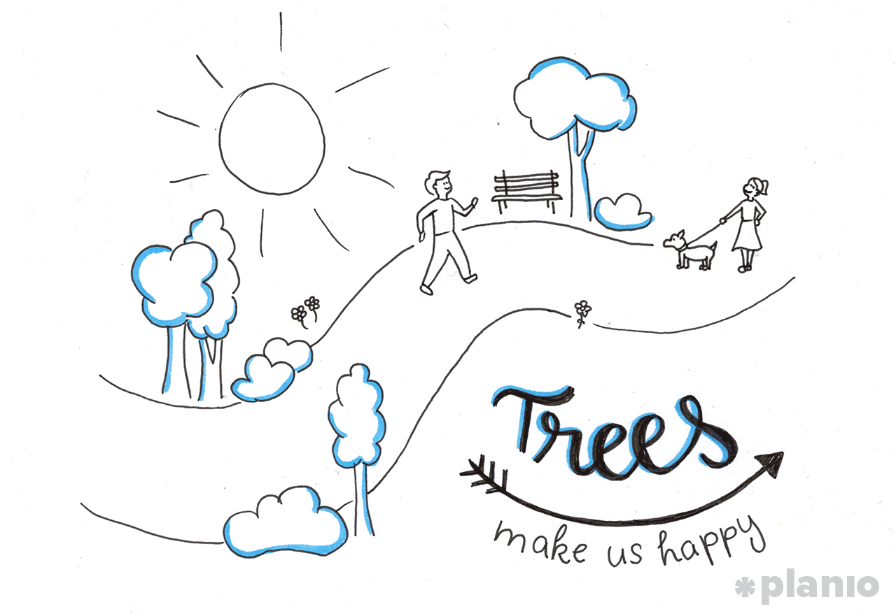 Trees make us happy